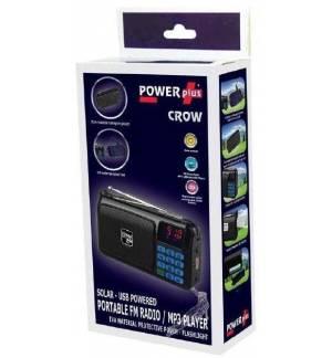 POWERplus Crow Ηλιακό USB FM Ραδιόφωνο MP3 Player LED Φακός