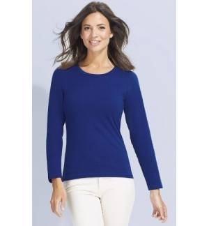 Sol's Majestic - 11425 Γυναικειο μακρυμάνικο t-shirt Jersey 150 γρ. - 100% βαμβάκι Ringspun σεμί-πενιέ
