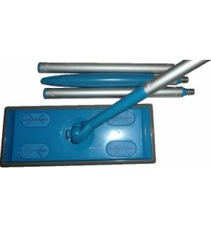 Floor dust push broom mop sweep cleaner handle 8 wipes Clean Pad