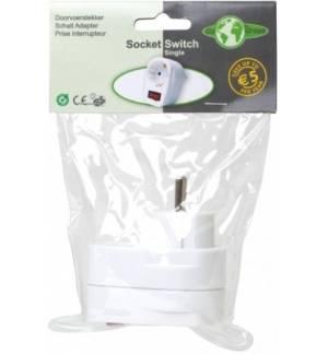 Πρίζα σούκο με φωτεινό διακόπτη on-off Ecosavers Socket Switch 1