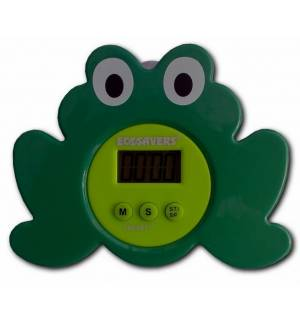 Frog Digital Shower Coach Kitchen Alarm Timer Suction Cup Low Wa