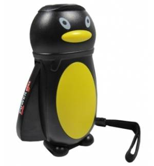 LED Squeeze PENGUIN Flashlight Children Smart Toy New Rechargeab