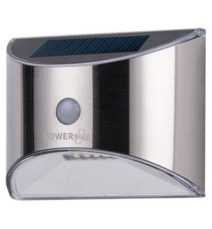 POWERplus Parakeet Solar powered stainless steel PIR Sensor Outdoor Light