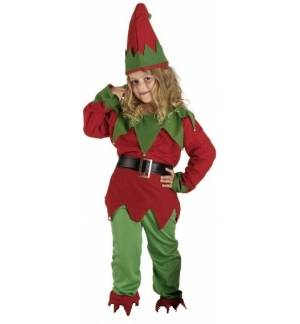 Christmas Carnival Halloween Costume kids Elf 2-8 years MARK505