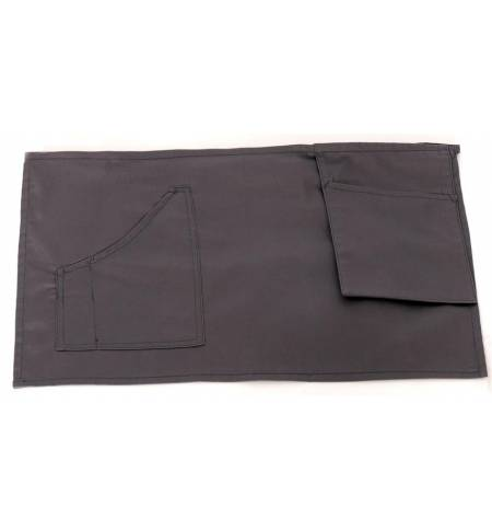 Ποδιά μέσης γκρι με μία τσέπη και θήκη για pda από καπαρντίνα 240γρ 35x60cm MARK740