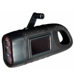 Powerplus Seahorse Solar & Dynamo Powered 3 Led Flashlight Carab