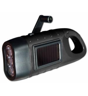 Powerplus Seahorse Solar & Dynamo Powered 3 Led Flashlight Carab