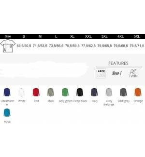 Sol's Monarch  11420 Ανδρικό t-shirt Jersey 150 γρ. - 100% βαμβάκι Ringspun σεμί-πενιέ