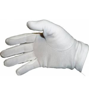Απλά Λευκά Βαμβακερά Γάντια Ιππασίας με προστασία στα δάχτυλα
