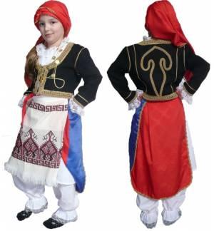 Greek Traditional Costume Kritikopoula 6-12 Years old CRETA MAR