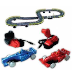Πίστα F1 λειτουργεί με Δυναμό 2 φωτιζόμενα αγωνιστικά αυτοκίνητα