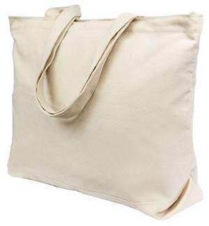 305 Eco Friendly Fabric Market Bag 100% Cotton Long Handles 38x42cm