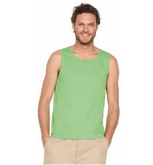 Sol's Justin 11465, Ανδρικό αμάνικο t-shirt Jersey 150 γρ. 100% βαμβάκι Ringspun σεμί πενιέ.