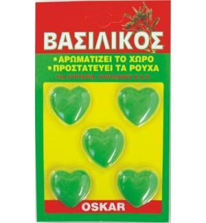 5 PCS. BASIL VASILIKOS HEARTS FOR OSKAR DRAWERS WARDROBE ETC.