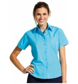 Sol's Escape 16070 Short sleeve poplin women's shirt 65% polyester 35% cotton