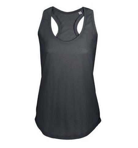 Sol's Moka 00579 Γυναικείο αμάνικο t-shirt 100% βαμβάκι Ringspun πενιέ