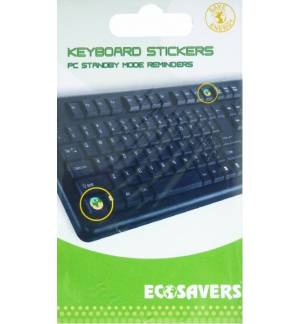 PC STANDBY MODE REMINDERS Keyboard Stickers EcoSavers