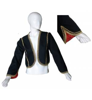 Greek Traditional Costume Accessory Vest With Lining Manis Maniatissas 6-12 Years old MARK783