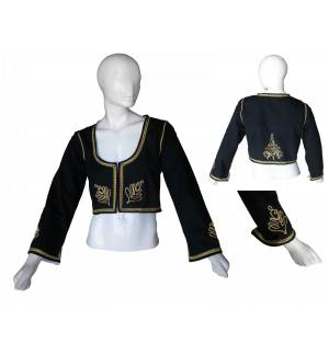 Greek Traditional Costume Accessory Handmade embroidered Vest of Crete Womans S-XL MARK784