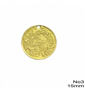 100pcs Brass Coin for Greek traditional costumes No3/15mm 0.59inches MARK788 coins