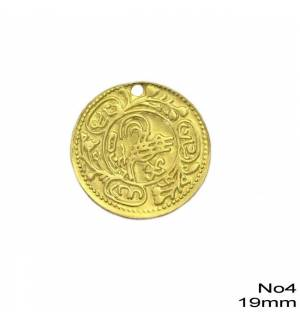 100pcs Brass Coin for Greek traditional costumes No4/19mm 0.75inches MARK787 coins