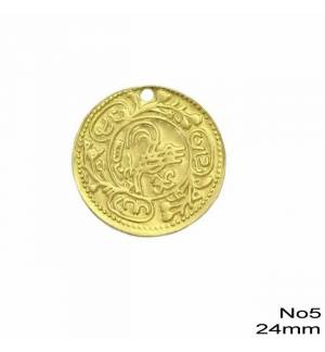 50pcs Brass Coin for Greek traditional costumes No5/24mm 0.95inches MARK789 coins