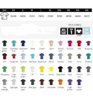 Sol's Imperial 11500 Ανδρικό t-shirt Jersey 190gr 100% βαμβάκι 39 χρώματα