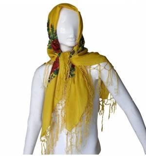 Παραδοσιακή μαντίλα με κρόσσια 100x100cm MARK791 Αξεσουάρ Παραδοσιακής Στολής