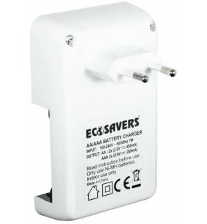 EcoSavers AA & AAA Battery Charger with zero standby power!