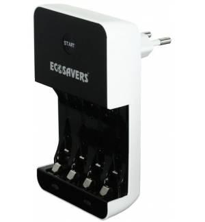 Φορτιστής μπαταριών EcoSavers AA & AAA με μηδενική κατανάλωση αναμονής!