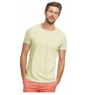 Sol's Miles Men 01398 Men's round neck striped t-shirt 100% combed Ringspun cotton