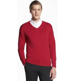 MEN'S ONE COLOR V NECK CLASSIC SWEATER SOL'S GALAXY MEN