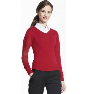 ONE COLOR V NECK CLASSIC SWEATER SOL'S GALAXY FOR WOMEN
