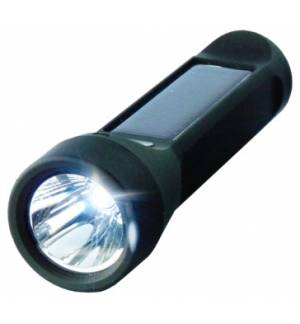 Waterproof Solar 3W Flashlight 2.400mAh Lithium Powerbank Salama