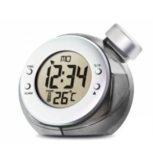 Water Powered LCD ALARM CLOCK Thermometer / Calendar H2O Power