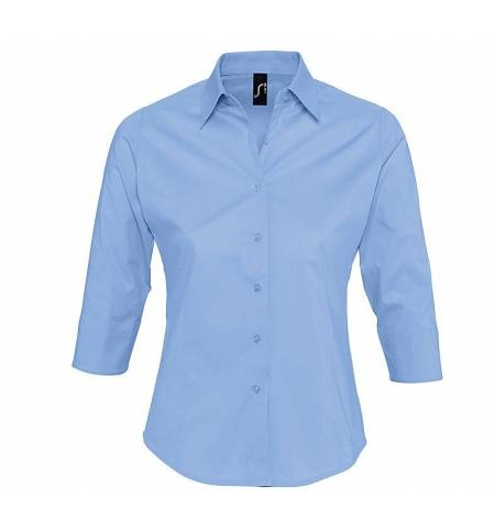 Sol's EFFECT 17010 LADIE'S 3/4 ¾ SLEEVED STRETCH SHIRT SIZE
