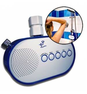 H2O Power Water Pressure Powered SHOWER RADIO fit's to all showe