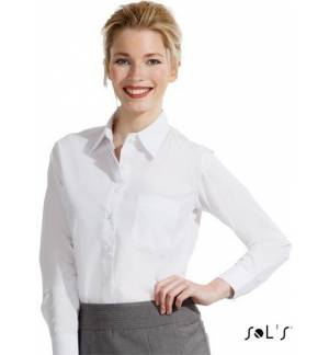 LADIE'S LONG SLEEVED POPLIN SHIRT SOL'S EXECUTIVE 16060 Sleeve S