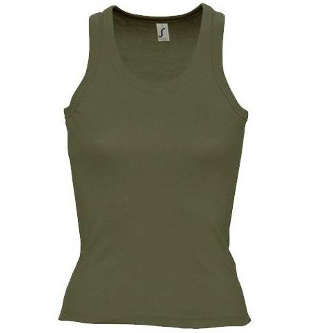 c3dc9b087be8 Sol s Coconut - 11490 Γυναικείο αμάνικο t-shirt μπλουζάκι με αθλητική πλάτη  σε σχήμα
