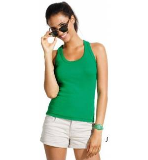 Sol's Coconut - 11490 WOMEN'S RACER BACK TANK TOP 100% semi-combed Ringspun cotton