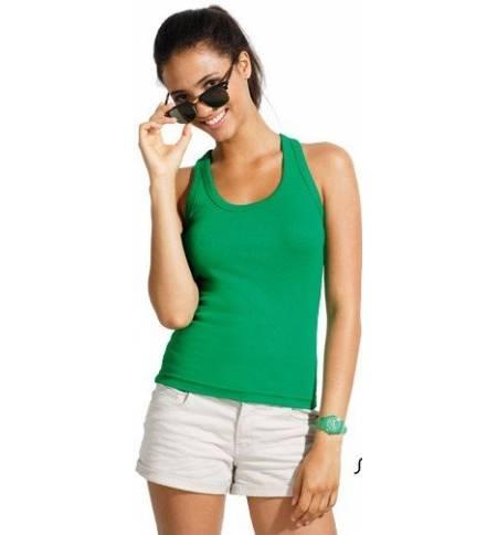 4596bff555c6 Sol s Coconut - 11490 Γυναικείο αμάνικο t-shirt μπλουζάκι με αθλητική πλάτη  σε σχήμα