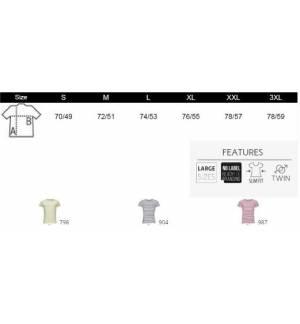 Sol's Miles Men 01398 Ανδρικό ριγέ t-shirt 100% Ringspun βαμβάκι σεμί-πενιέ