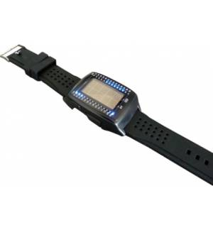 USB Solar powered Binary LED watch powerbank POWERplus