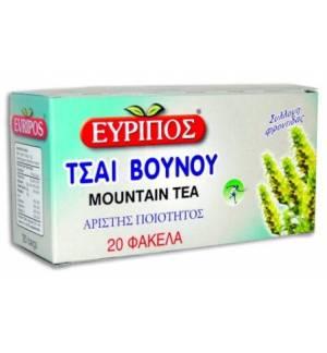 Τσάι Βουνού Εύριπος 20 φάκελα 24gr 0.84oz Φυσικό Ελληνικό Προϊόν
