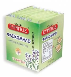 Φασκόμηλο Εύριπος 10 Φάκελα Φυσικό Ελληνικό Τονωτικό Προϊόν Άρισ