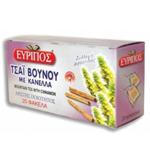 Τσάι Βουνού με Κανέλλα Εύριπος 20 φάκελα Φυσικό Ελληνικό Τονωτικ