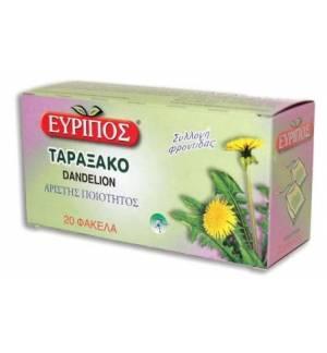 Τσάι Ταραξάκο Εύριπος 20 Φάκελα Φυσικό Προϊόν Άριστης Ποιότητος