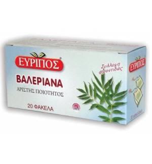 Τσάι Βαλεριάνα Εύριπος 20 Φάκελα Φυσικό Χαλαρωτικό Προϊόν Άριστη
