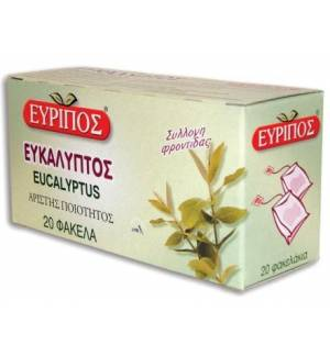 Eucalyptus Globulus 20 Bags Evripos Greek Natural Relaxating Tea