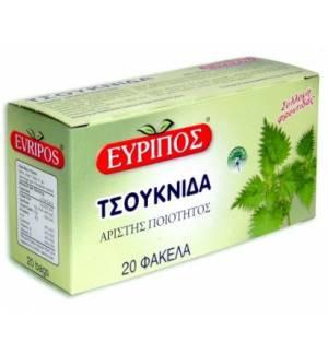 Τσάι Τσουκνίδα Εύριπος 20 Φάκελα Φυσικό τονωτικό Ελληνικό Προϊόν
